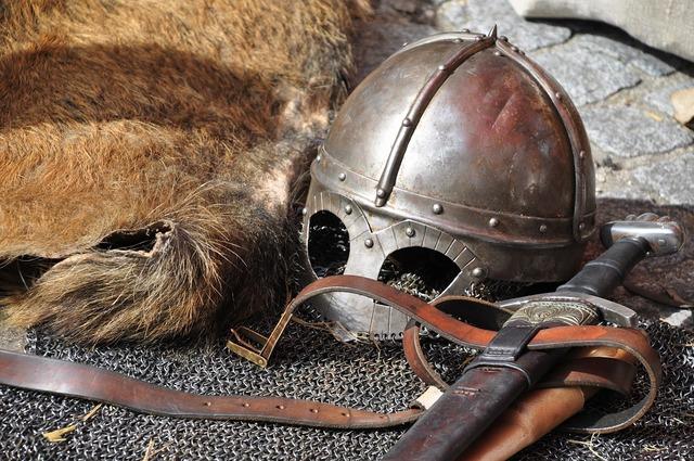 Knight armor helmet.