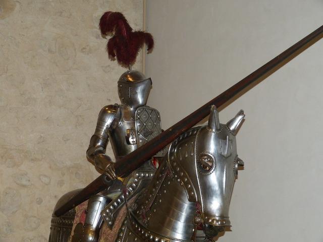 Knight armor horse.