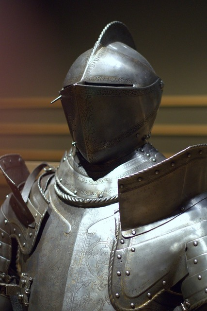 Knight armor the middle ages.