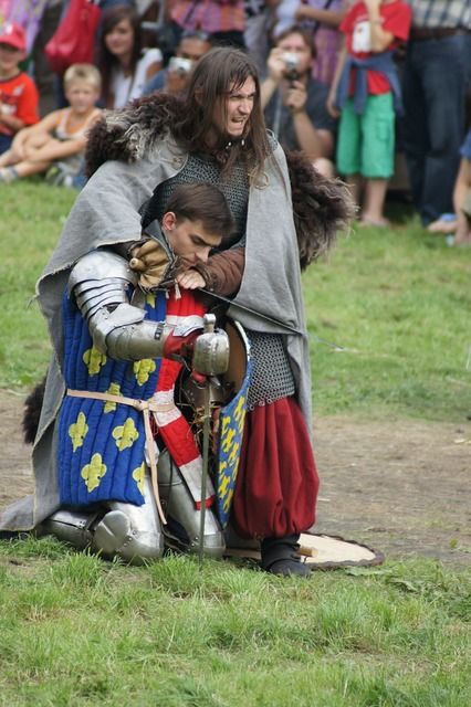 Knight fight the middle ages.