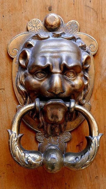 Knocker door brass.