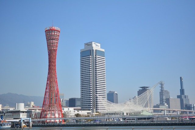 Kobe tower kobe maritime museum, nature landscapes.