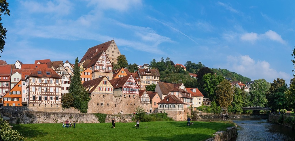 Kocher germany old town.