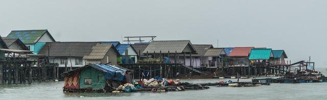 Koh panyee island floating fishing village thailand, places monuments.