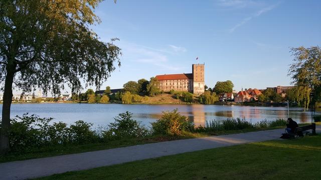 Koldinghus castle lake.