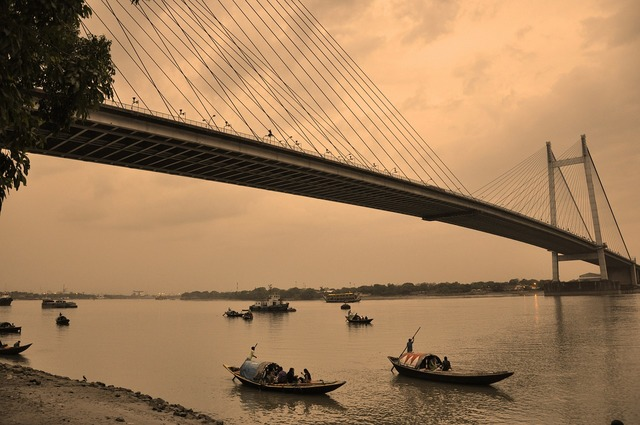 Kolkata suspension bridge bridge.