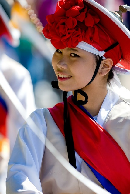 Korean woman maefchen, beauty fashion.