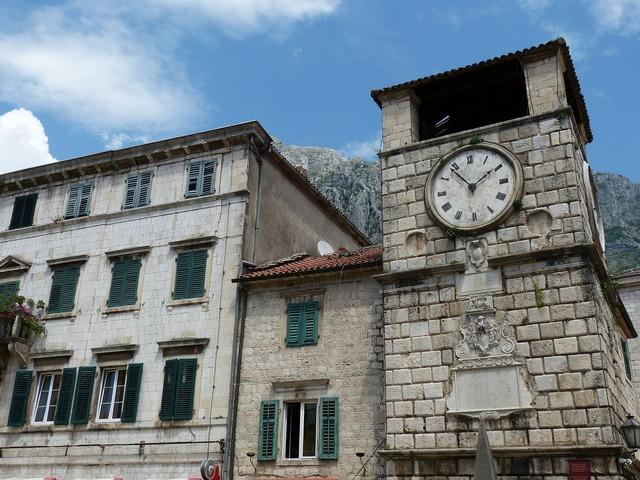 Kotor montenegro balkan, architecture buildings.
