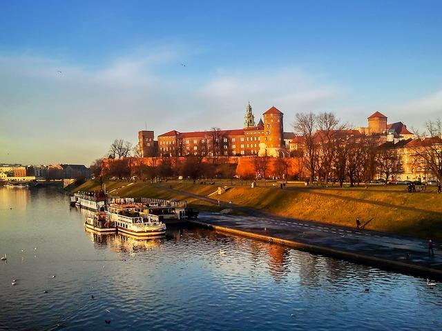 Kraków wawel castle, architecture buildings.
