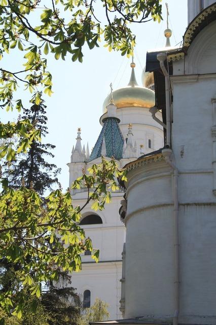 Kremlin church square white walls.