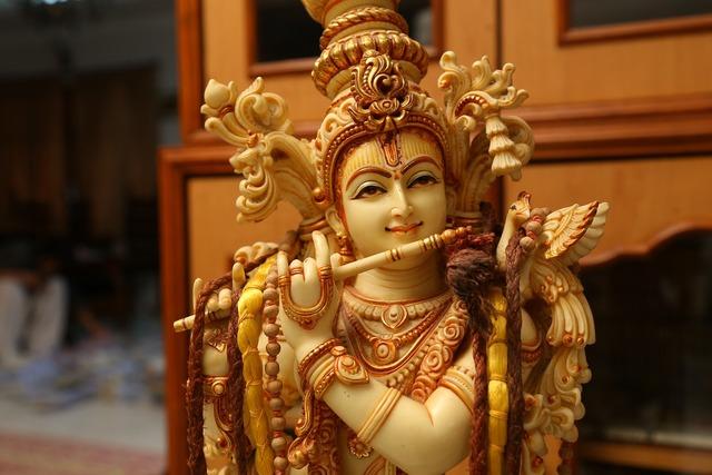 Krishna hindu god.