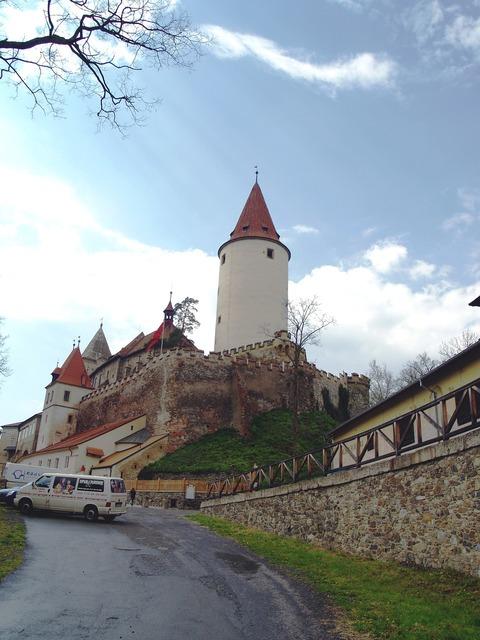 Křivoklát castle strength, architecture buildings.