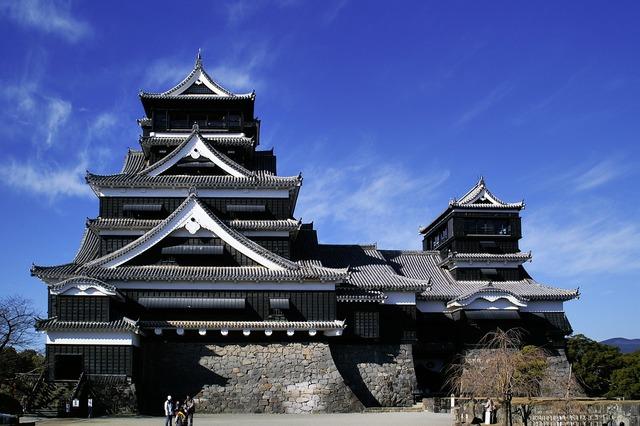 Kumamoto castle castle building, architecture buildings.