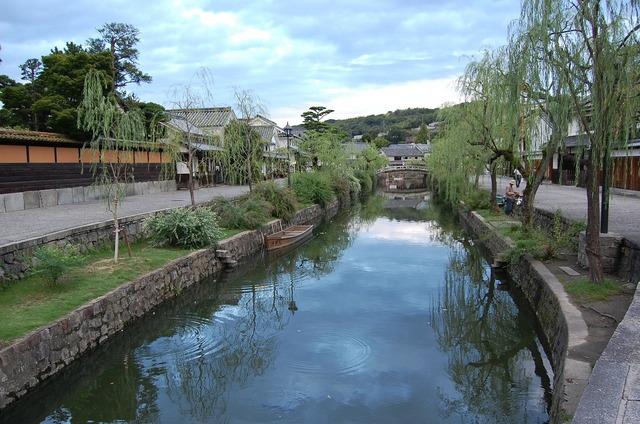 Kurashiki okayama river.