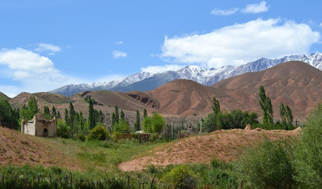 Kyrgyzstan mountains snow.