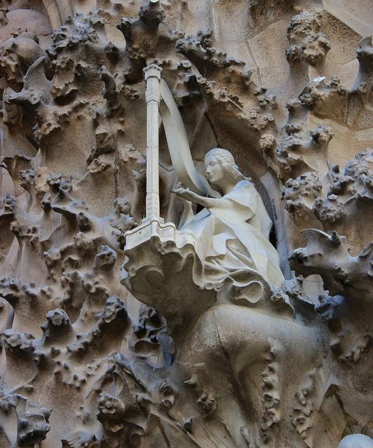 La sagrada familia gaudí harp, architecture buildings.