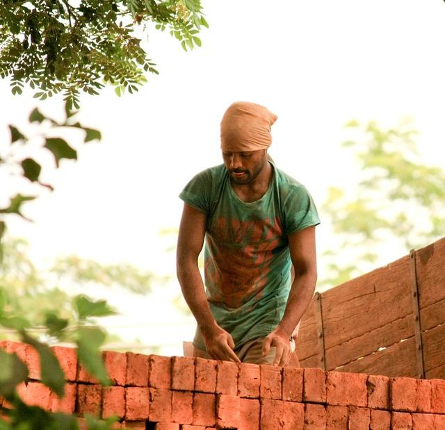 Laborer india worker, industry craft.