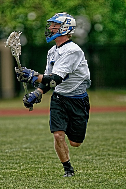 Lacrosse action player, sports.