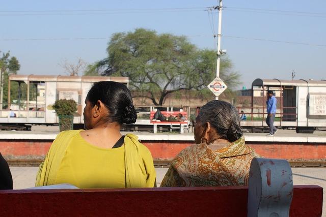 Ladies waiting old, people.