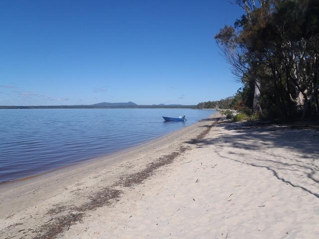 Lake beach bank, travel vacation.
