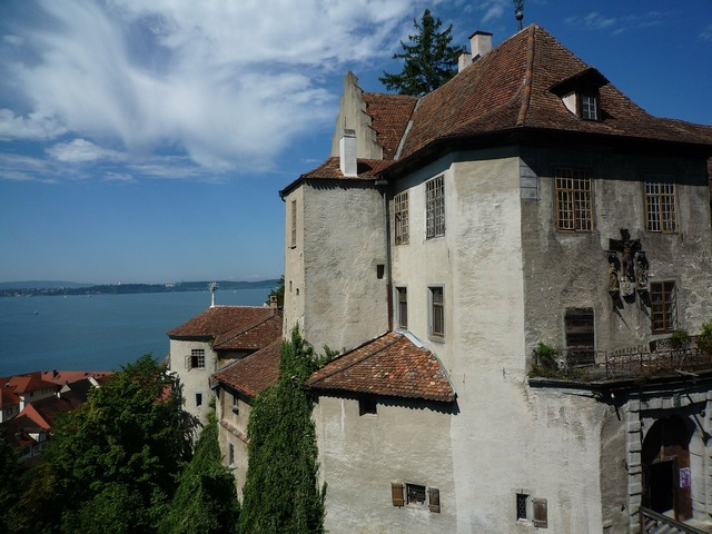 Lake constance castle meersburg, architecture buildings.