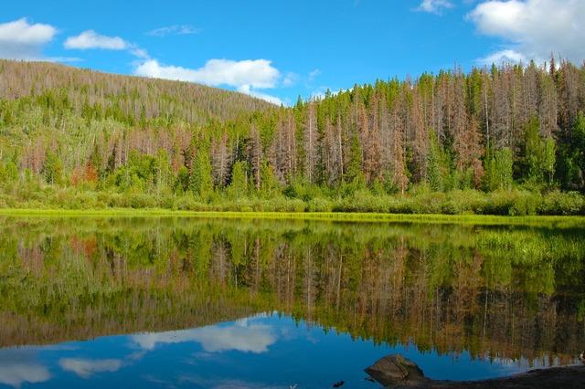 Lake mountains colorado, nature landscapes.