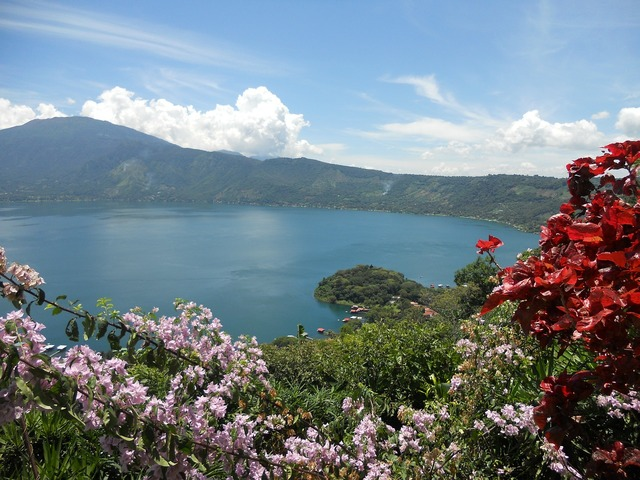 Lake viewpoint coatepeque, travel vacation.