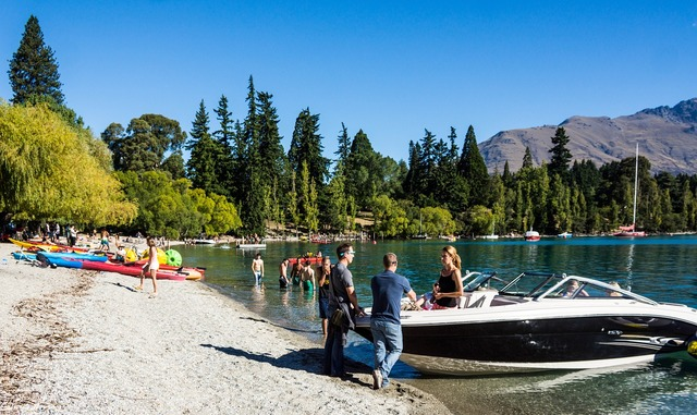 Lake wakatipu queenstown new zealand, nature landscapes.