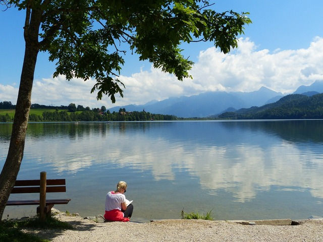 Lake weissensee lake waters, nature landscapes.