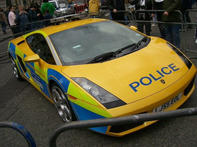 Lamborghini gallardo police vehicle, transportation traffic.