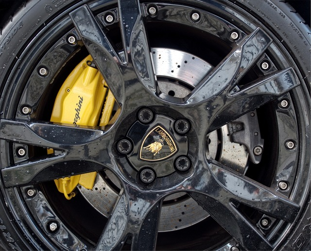 Lamborghini wheel car, transportation traffic.