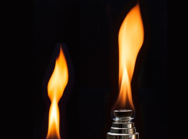 Lamp flame yellow.