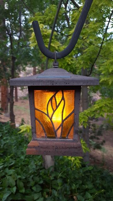 Lamp garden dusk.