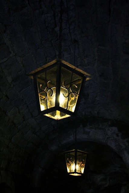 Lamp light castle.