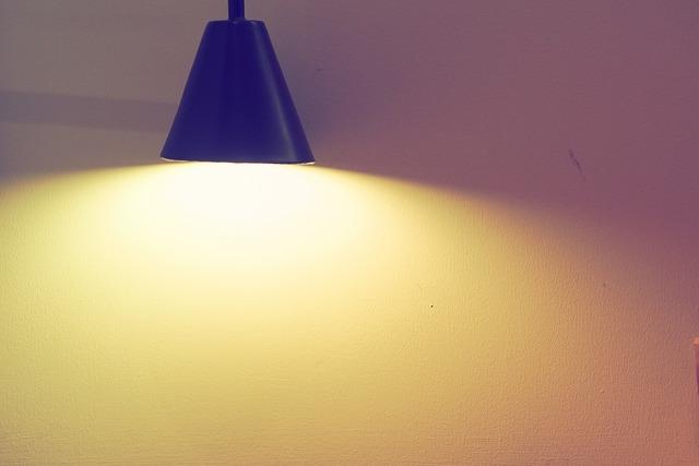 Lamp lighting the brightness.