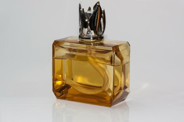 Lamp room fragrance glass bottle.