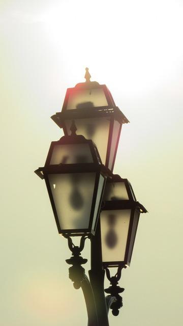 Lamps light sunlight.