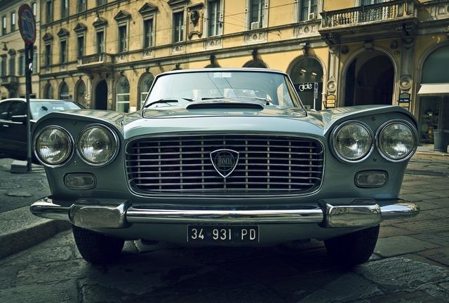 Lancia car vintage, transportation traffic.