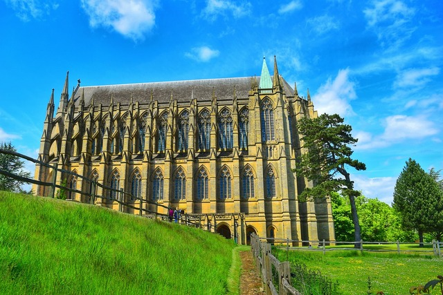 Lancing college historical building, architecture buildings.