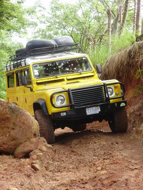 Landrover land rover rock, transportation traffic.