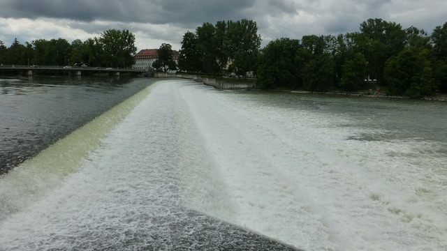 Landsberg lech water, nature landscapes.