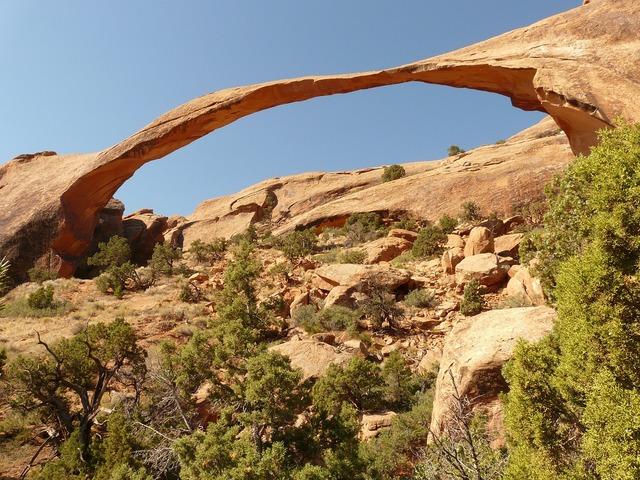 Landscape arch arches national park usa.