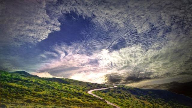 Landscape horizon clouds, nature landscapes.