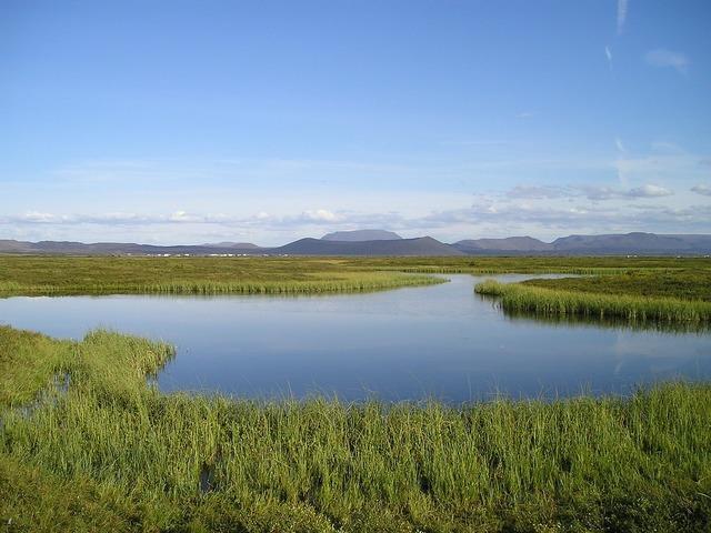 Landscape reflection mirroring, nature landscapes.