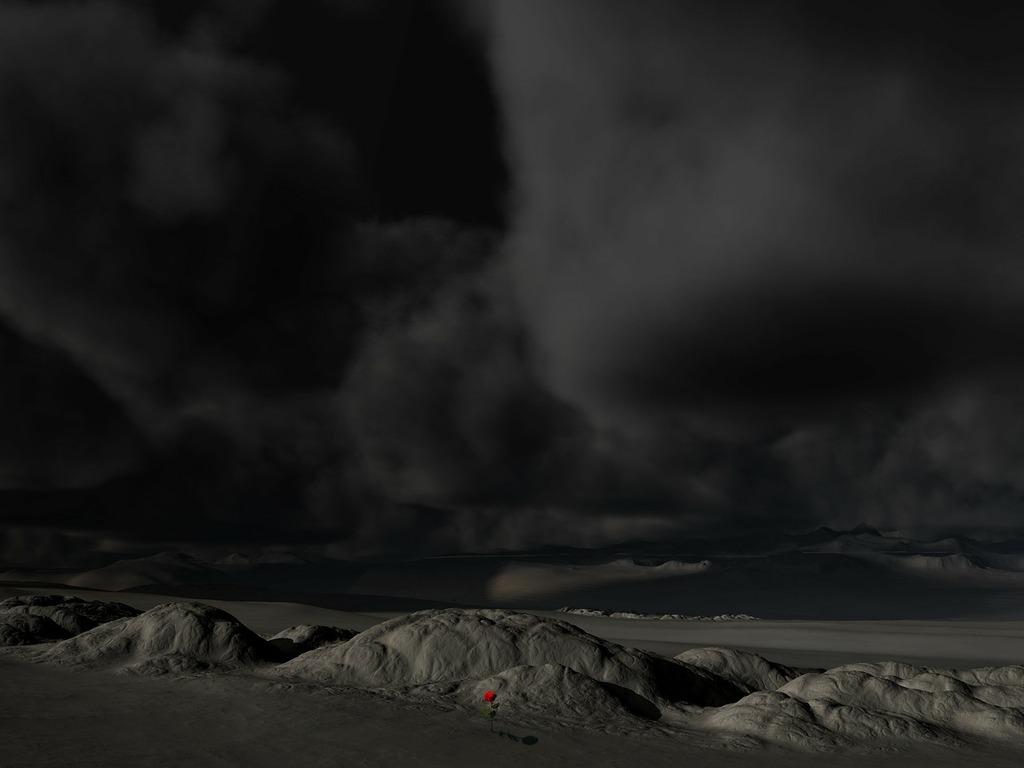 Landscape sky dark, nature landscapes.
