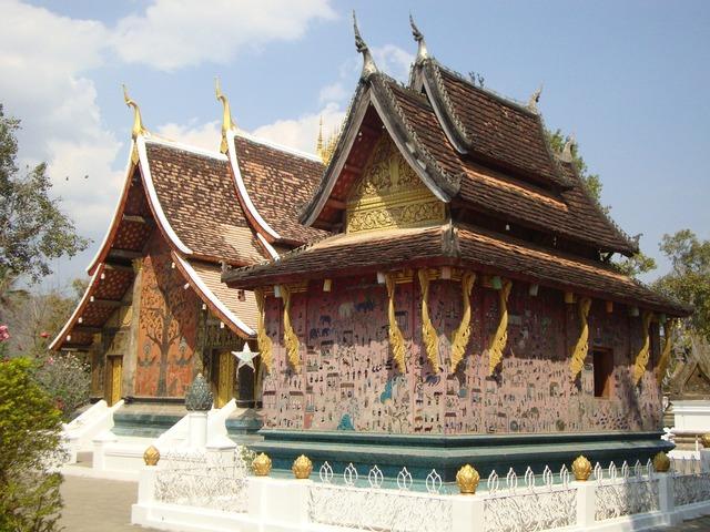 Laos vientiane building, architecture buildings.