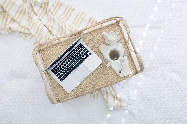 Laptop computer tray tea, computer communication.