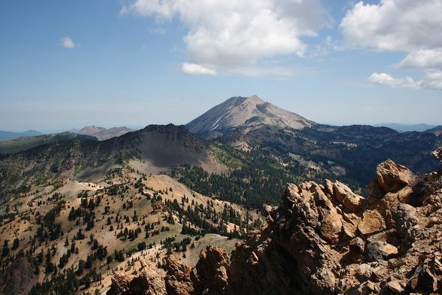 Lassen volcanic national park california, nature landscapes.