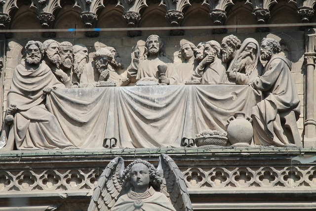Last supper cologne cathedral portal, places monuments.