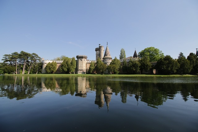 Laxenburg castle castle pond.